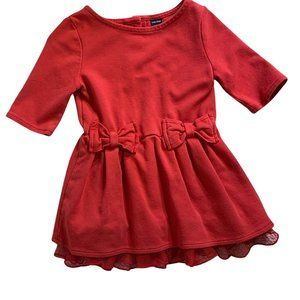 Baby Gap Red Dress W/ Ruffles and Bows, 12 - 18M